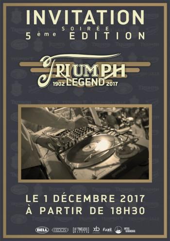 Soirée Triumph Legend 5ème Edition